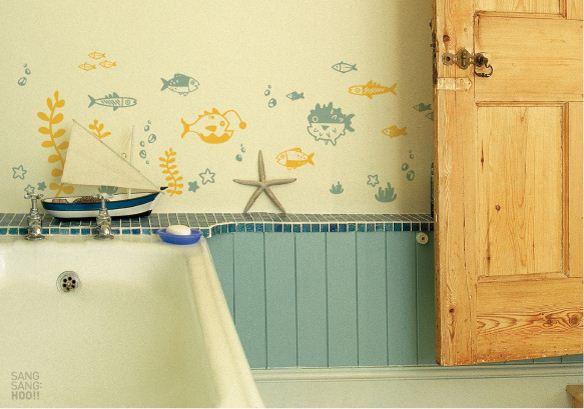 出典:かわいい魚のウォールステッカーで子供部屋コーディネート♪