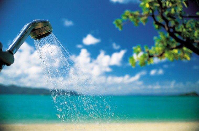 ビーチとシャワー