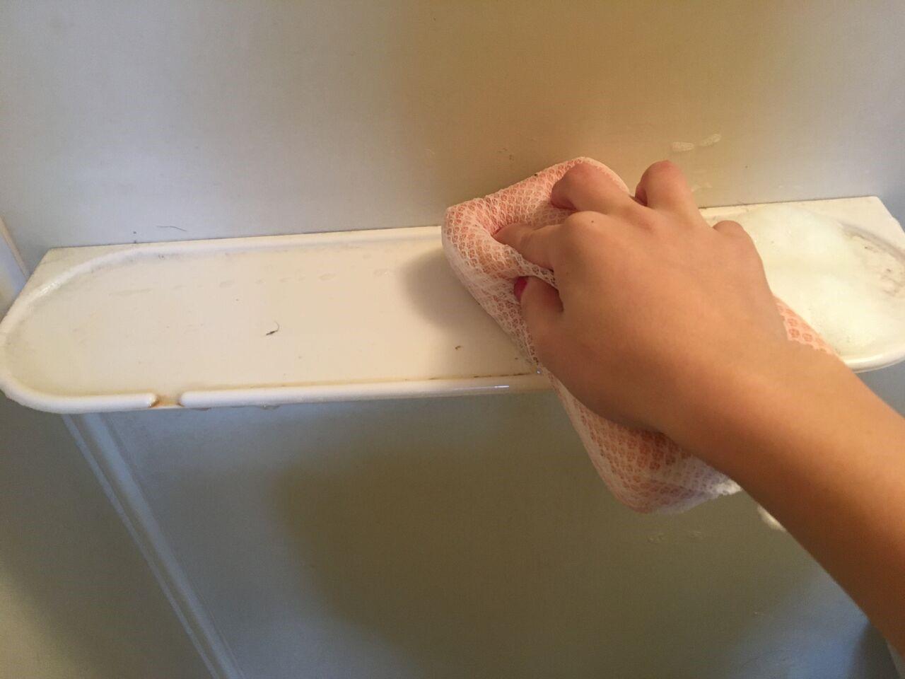 掃除中の物置