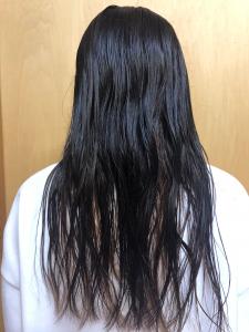 濡れている状態の髪
