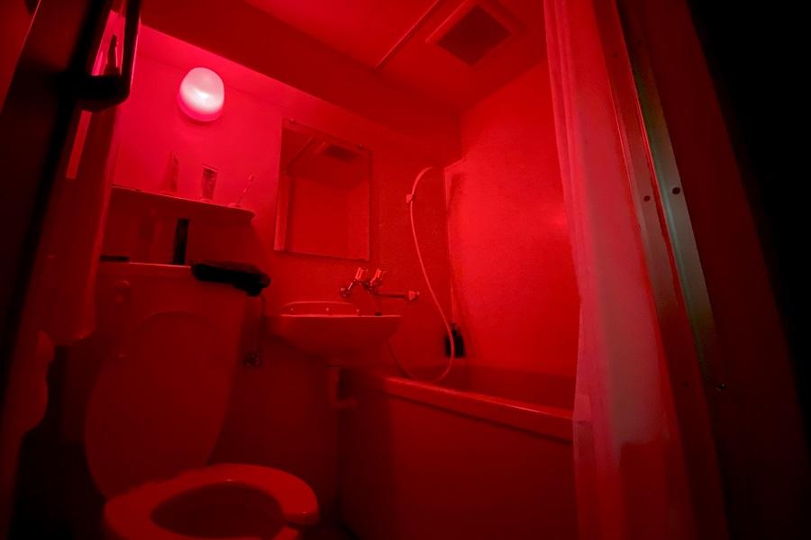 真っ赤な風呂場